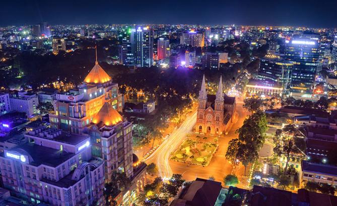Sài Gòn nhìn từ góc độ cao