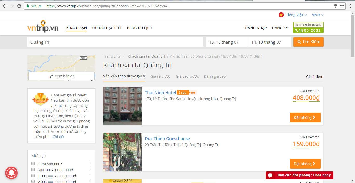 Đặt phòng khách sạn Quảng Trị