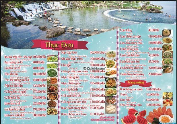 Với các mẫu thực đơn về giá đồ ăn ở Cát Tiên