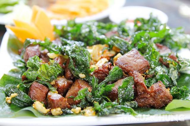 Thịt trâu lá trơng : ẩm thực Quảng Trị