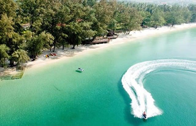 Khung cảnh khu du lịch bãi tắm Bàng Hà Tiên (Ảnh sưu tầm)