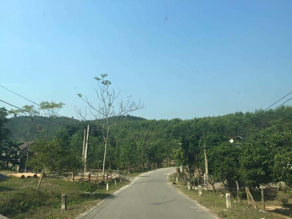 Con đường dẫn vào vườn quốc gia Bến En