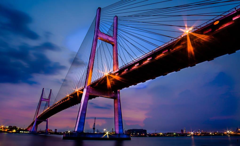 Location Phu My Bridge at night