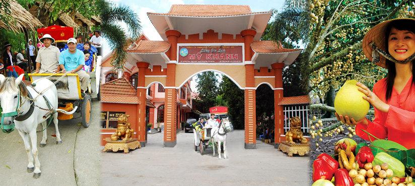 Cổng làng du lịch Mỹ Khánh (Nguồn sưu tầm)