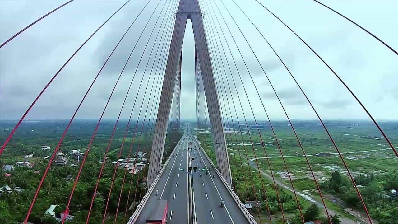 Cầu dây văng dài nhất Đông Nam Á (Nguồn sưu tầm)