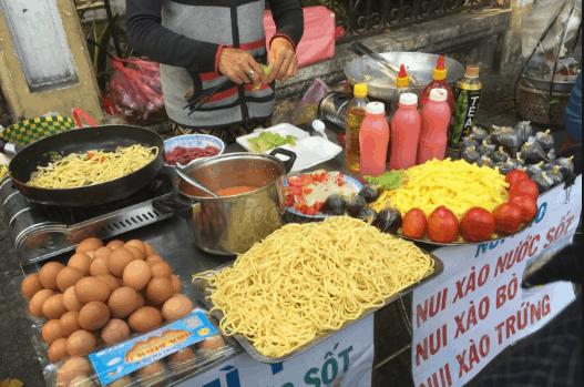 Khu ăn vặt đường An Dương Vương