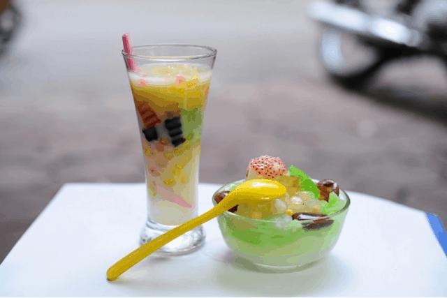 Chè xoa xoa hạt lựu - món ngon Đà Nẵng