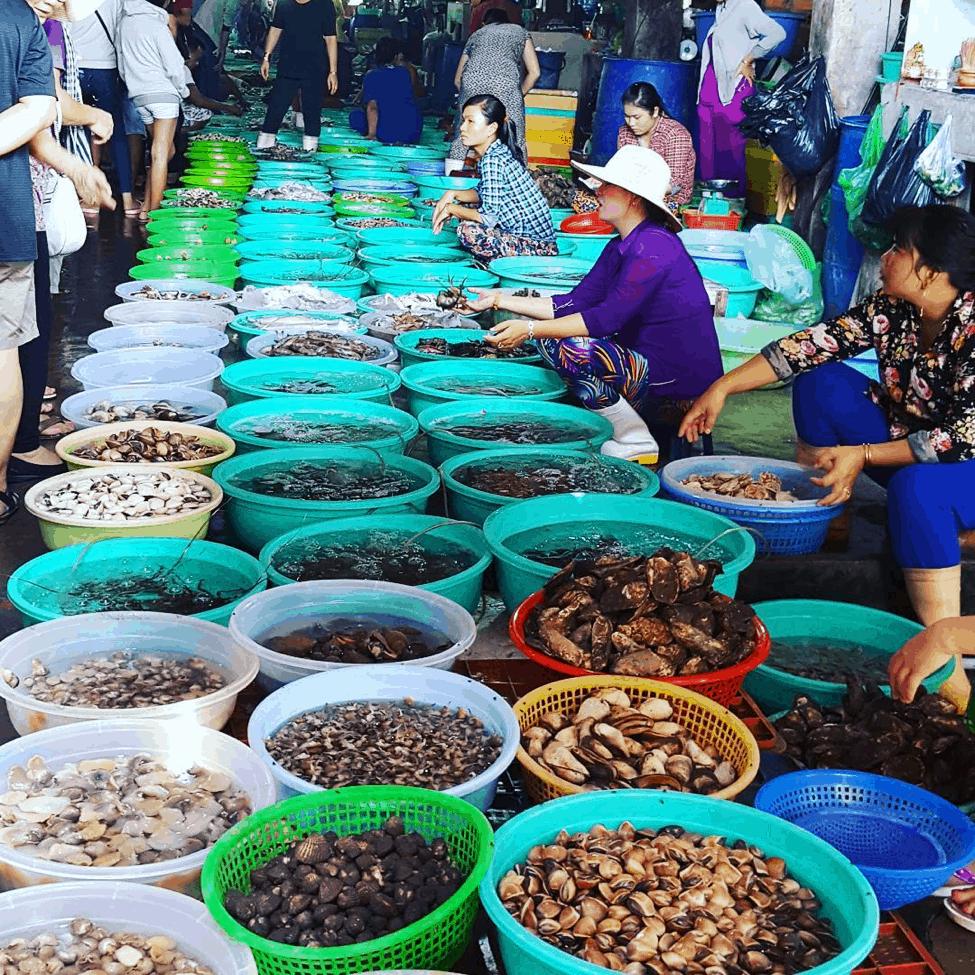 Du lịch chợ hải sản ở cần giờ (Ảnh: Sưu tầm)