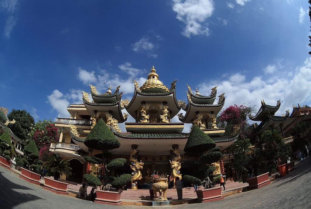 Khu vực trung tâm của ngôi chùa ở Tây Ninh(Ảnh: ST)