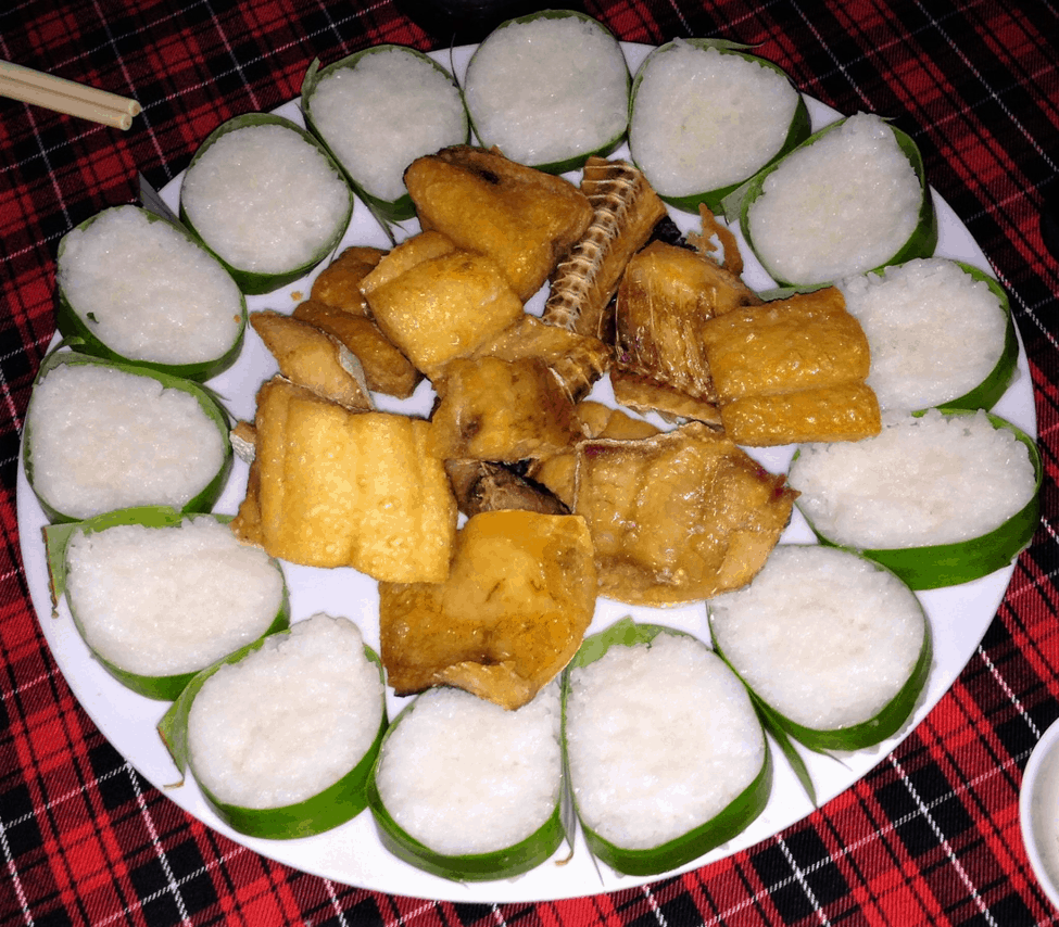 Đặc sản Cần Giờ cơm vắt khô cá dứa