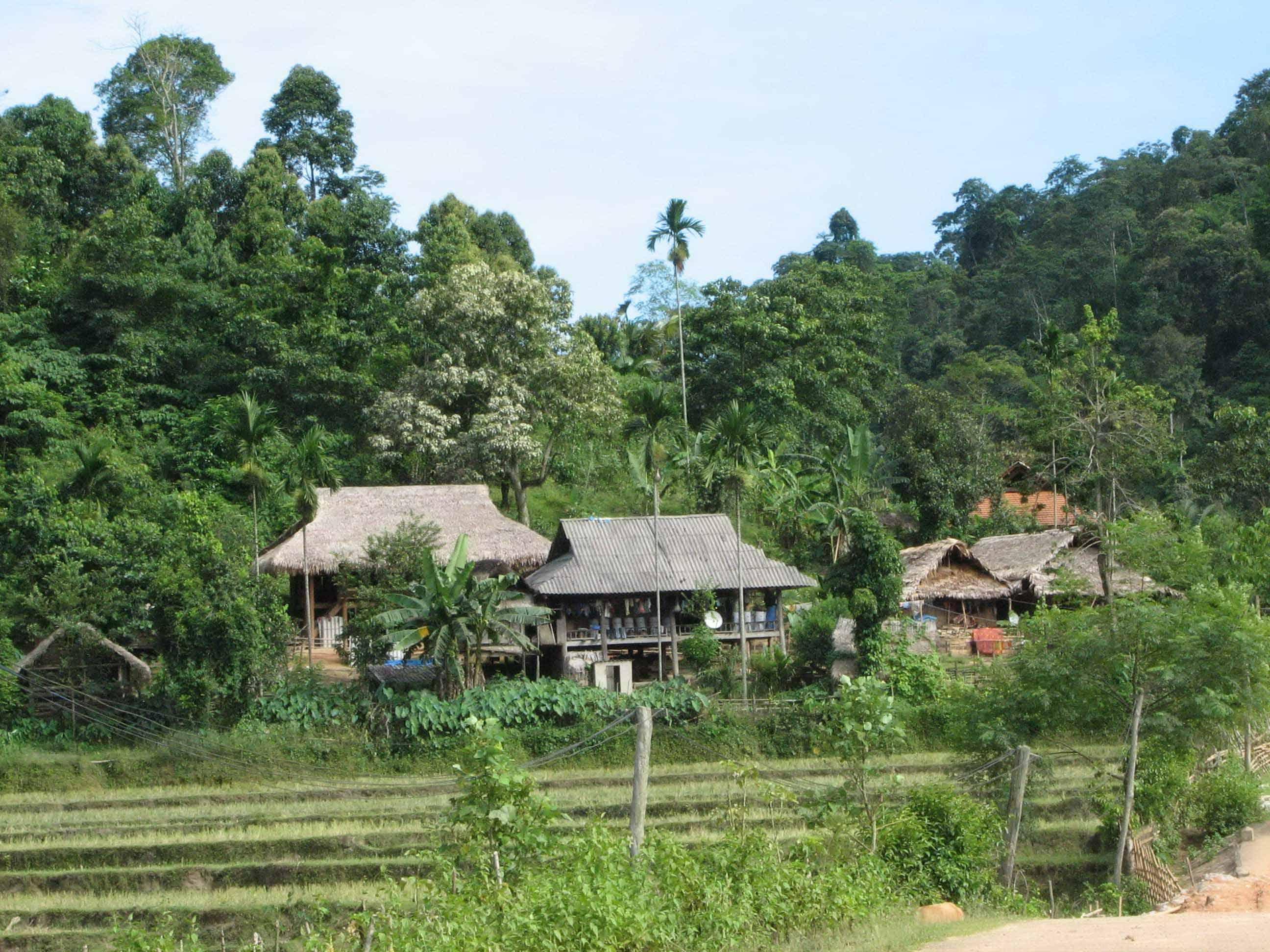 Bản làng người Thái tại Pù Mát