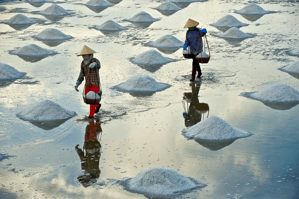 Vựa muối của người dân đảo Thiềng Liềng (Ảnh: Sưu tầm)