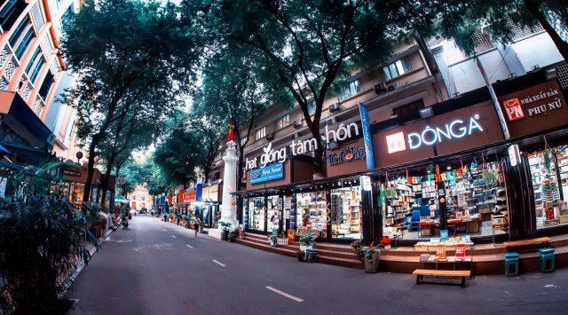 Không gian đường sách Nguyễn Văn Bình Sài Gòn (Ảnh: Sưu tầm)