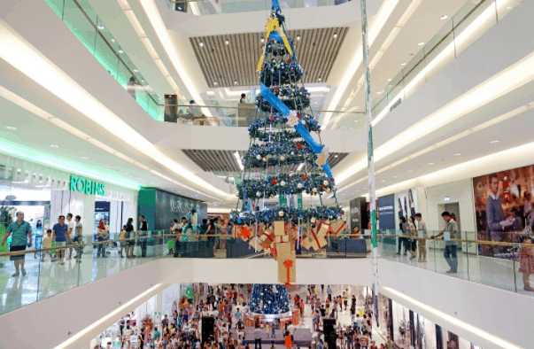 Noel atmosphere at Crescent Mall