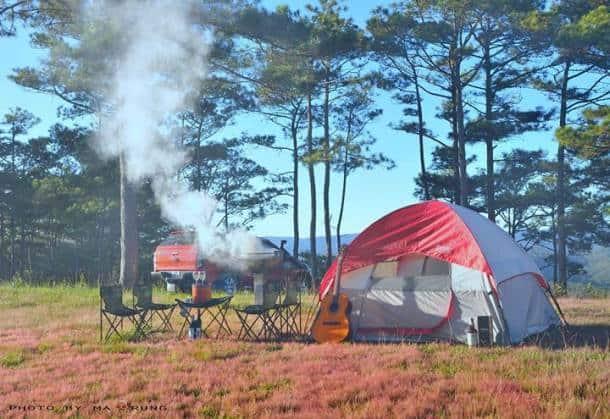 Hoạt động nấu nướng cạnh lều trại tại Bến En