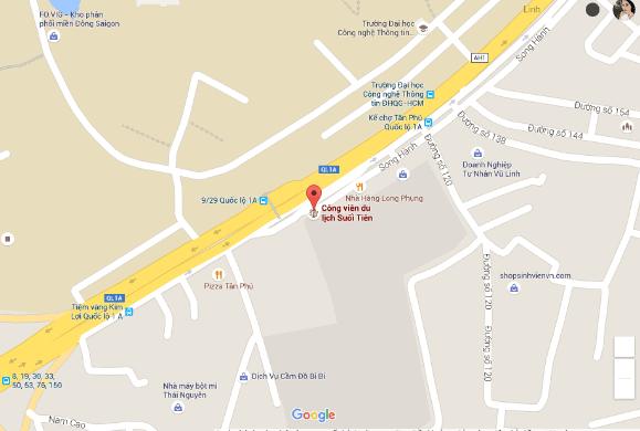 Bản đồ khu du lịch Suối Tiên