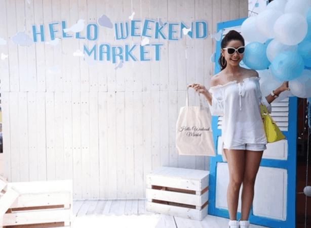 Một góc chụp hình Hello Weekend Market