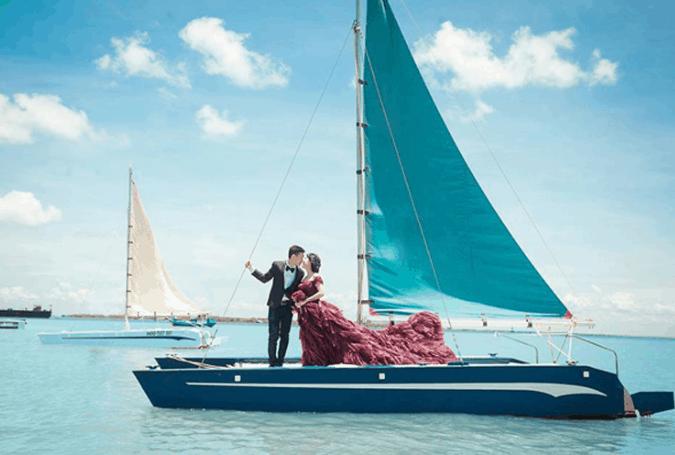 Cano trên bến du thuyền Marina Vũng Tàu