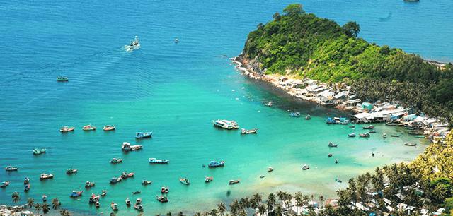 Hình ảnh Bãi Cây Mến với màu xanh như ngọc của biển khơi Kiên Giang(Ảnh: Sưu tầm)