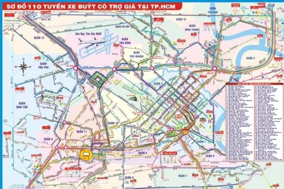 Bản đồ xe bus Tp Hồ Chí Minh