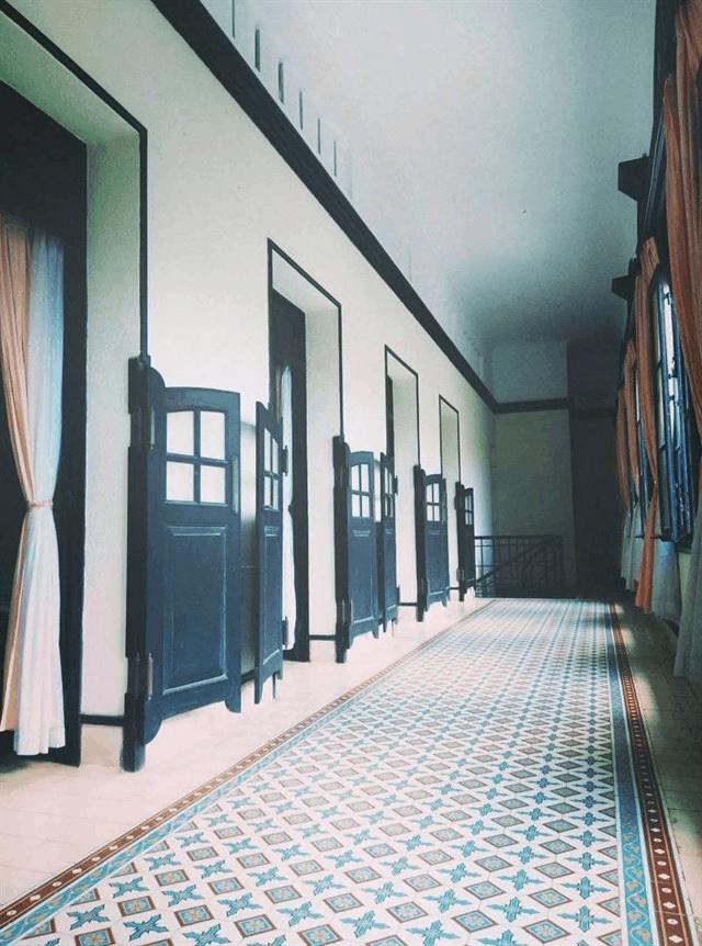 Hành lang của Bạch Dinh (Ảnh: Sưu tầm)