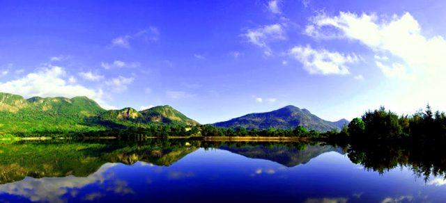 Cảnh sắc hồ An Hải vô cùng ấn tượng (Ảnh: ST)