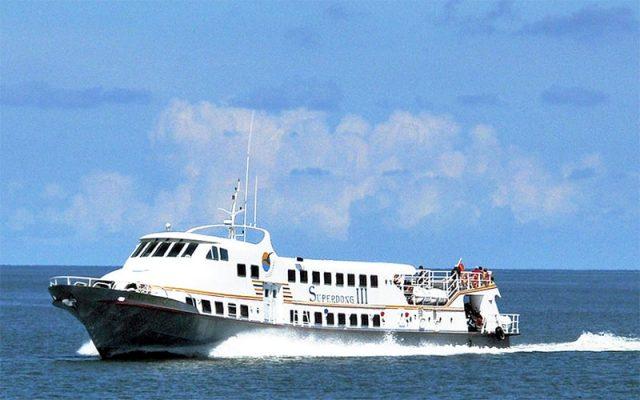 Bạn chỉ có một cách đến đảo Nam Du đó chính là tàu cao tốc (Ảnh: Sưu tầm)