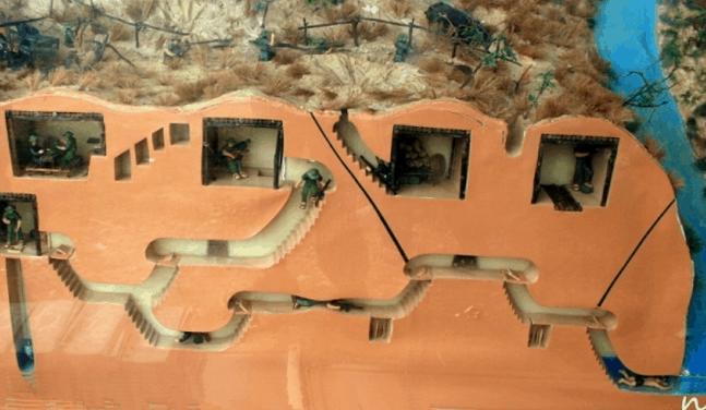 Sơ đồ đường hầm trong địa đạo Củ Chi (Ảnh ST)
