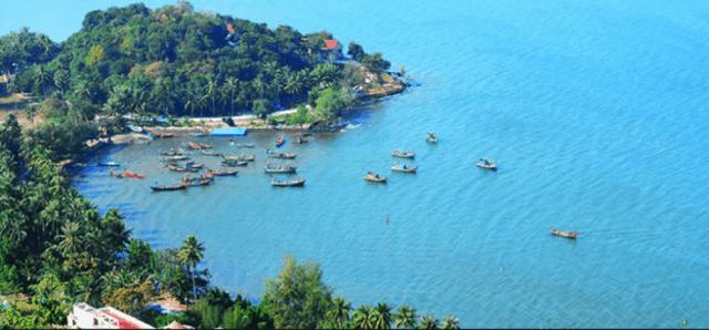 Đảo Hải Tặc nhìn từ xa (ảnh ST)