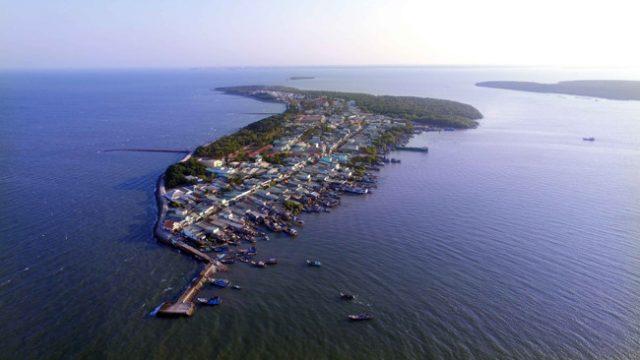 Khu du lịch đảo Thạnh An Cần Giờ từ trên cao (Ảnh sưu tầm)