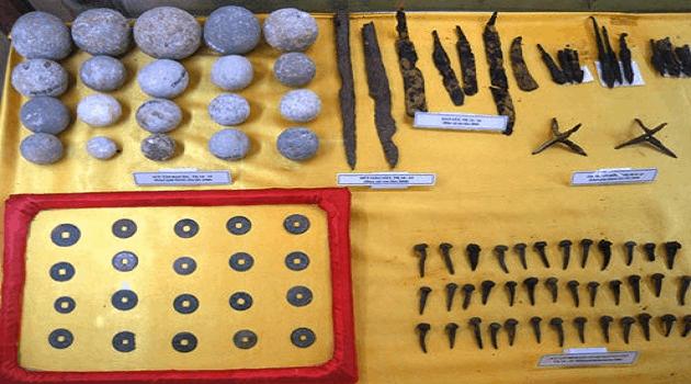Cổ vật được tìm thấy ở thành nhà Hồ