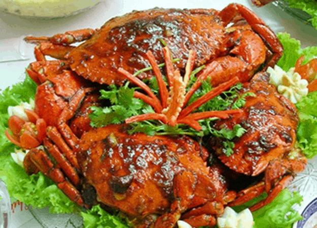 Ghẹ Rang Me - ẩm thực tại Lăng Cô