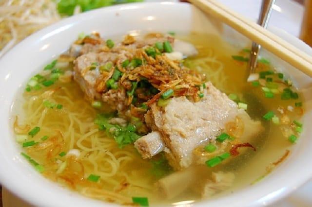 Món ăn ngon ở Vũng Tàu - Hủ tiếu mì sườn Tùng Hưng (Ảnh sưu tầm)