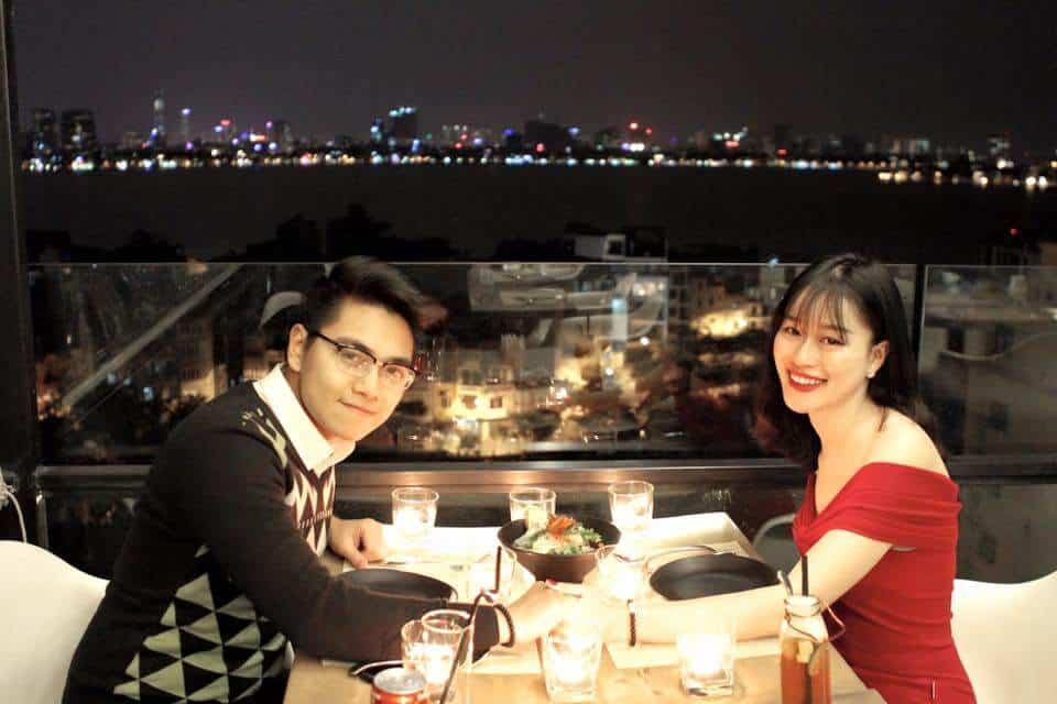 địa điểm hẹn hò ở Hà Nội các quán cafe trên cao