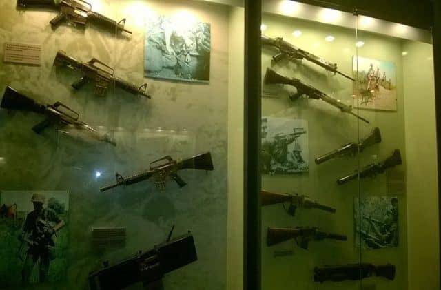Hình ảnh bảo tàng chứng tích chiến tranh - Hiện vật thời kháng chiến