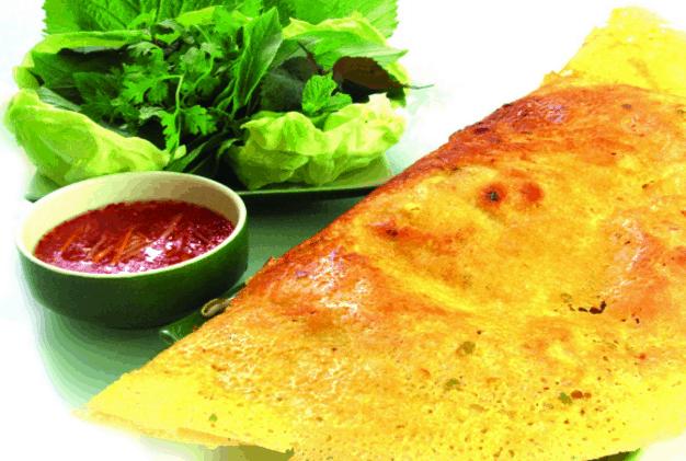 Bánh xèo là món ăn ngon nức tiếng của người Sài Gòn