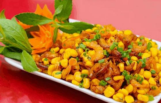Bắp xào - một trong những món ăn vặt ở Sài Gòn tuyệt ngon