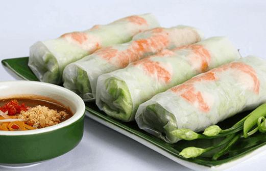 Món gỏi cuốn là một món ăn tuyệt ngon ở Sài Gòn