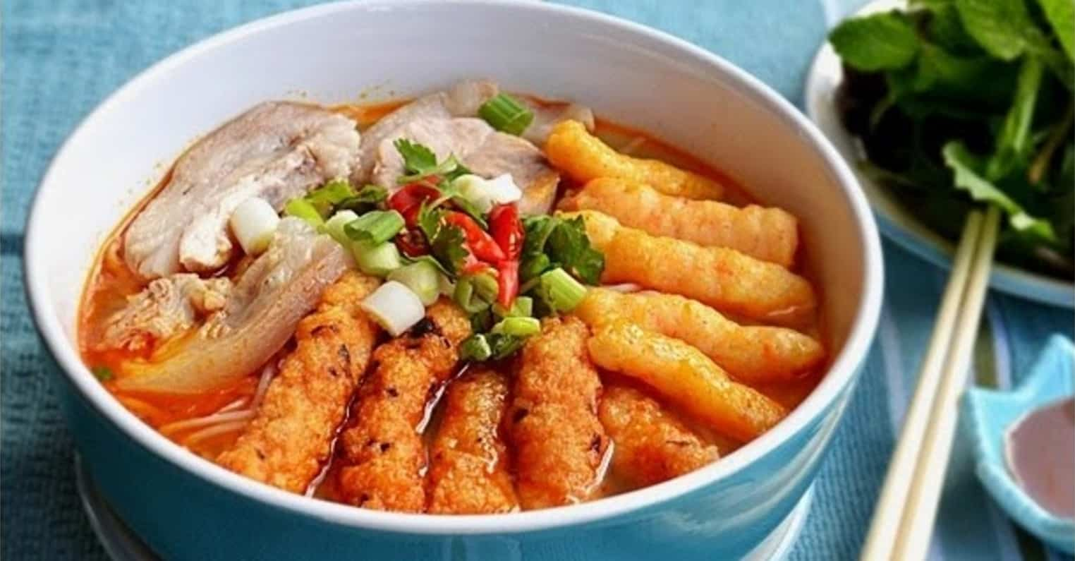 Bún suông được nấu theo hướng Sài Gòn