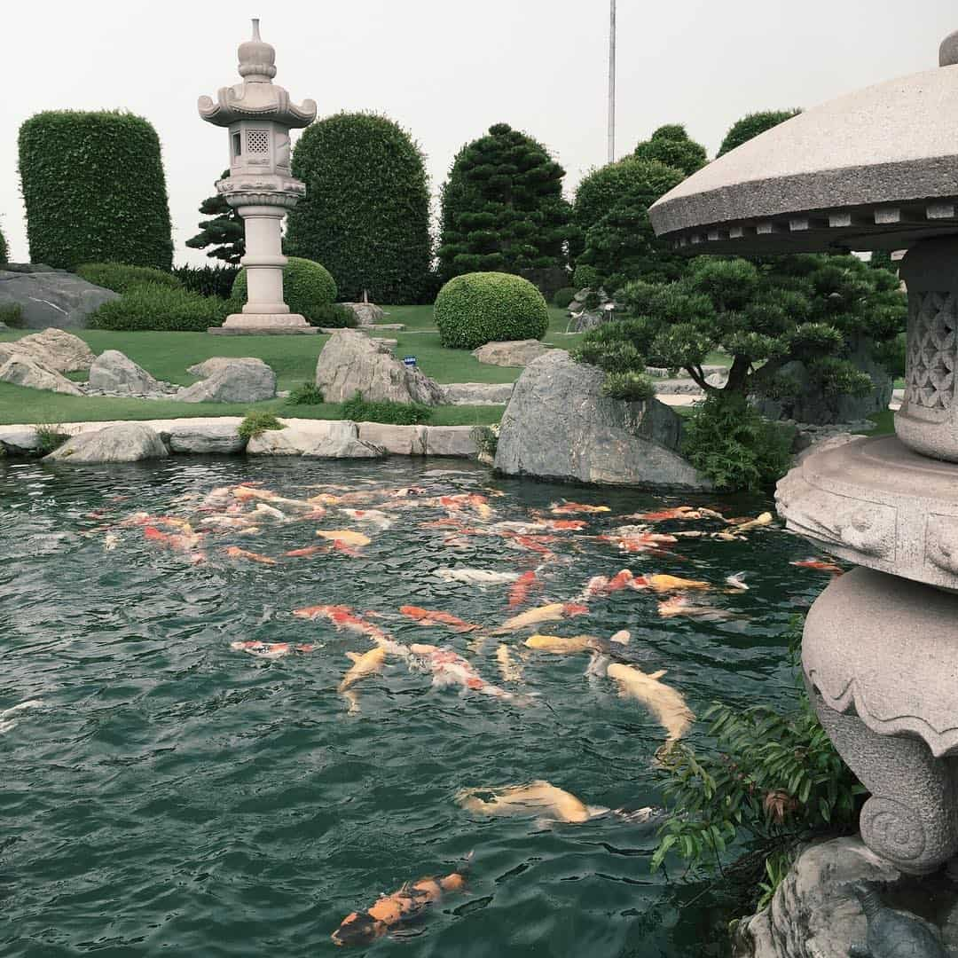 Công viên được xây dựng hoàn toàn theo lối kiến trúc kiểu Nhật