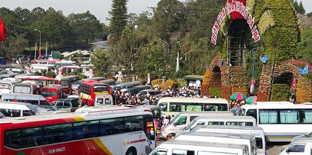 Giao thông Đà Lạt tại các mùa Festival năm trước