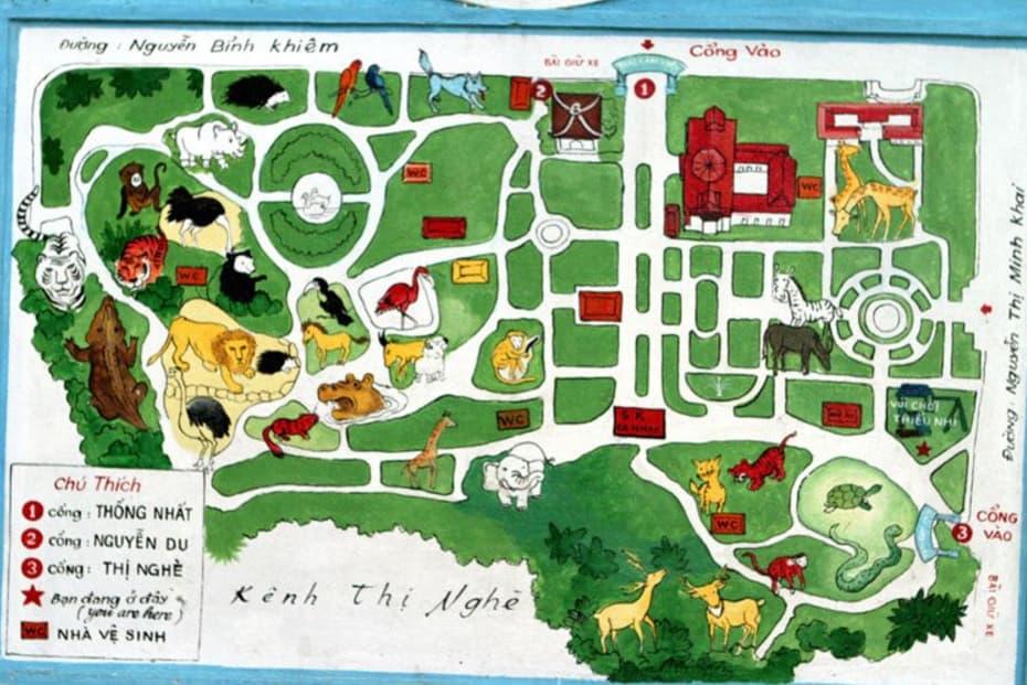 Bản đồ Thảo cầm viên