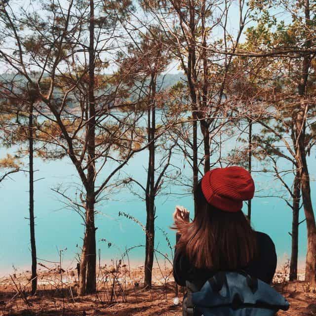 Hồ là một địa điểm check in nổi tiếng (Ảnh ST)