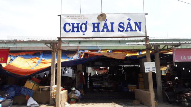 Cổng chợ hải sản Đà Nẵng