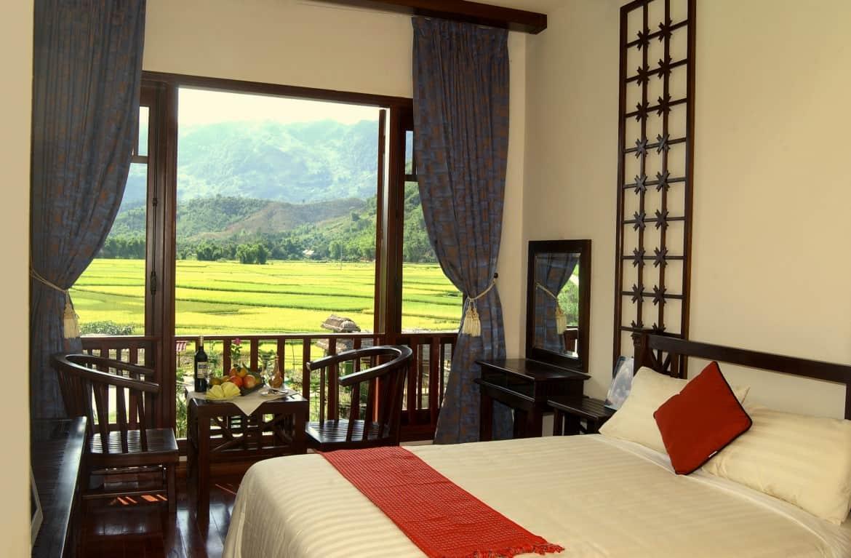 Phòng Deluxe Mai Châu Lodge hướng núi
