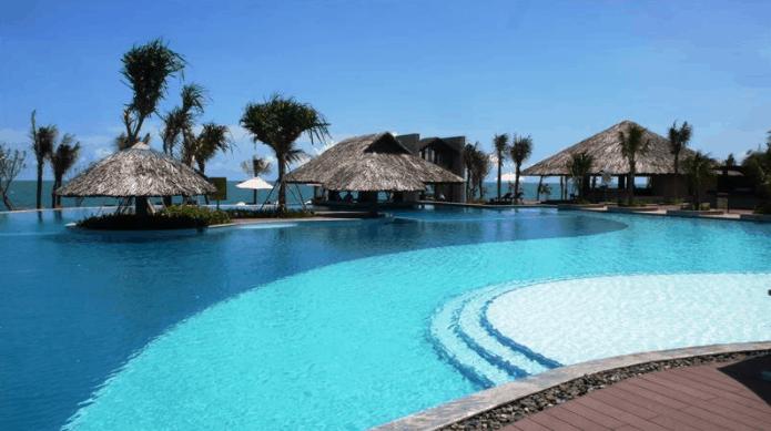 Resort Long Cung là điểm đến yên tĩnh, sạch đẹp