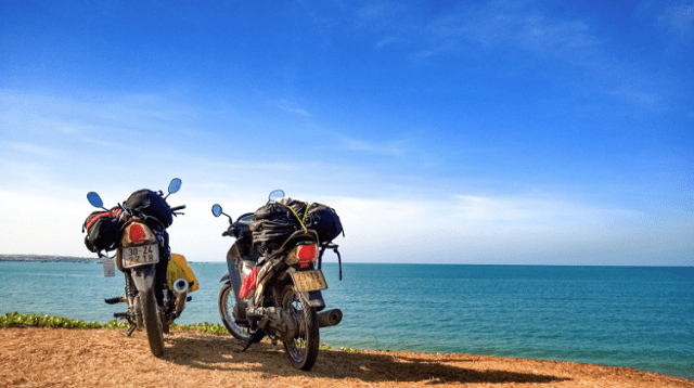 Xe máy là phương tiện chính để đi phượt khu du lịch sinh thái Cần Giờ