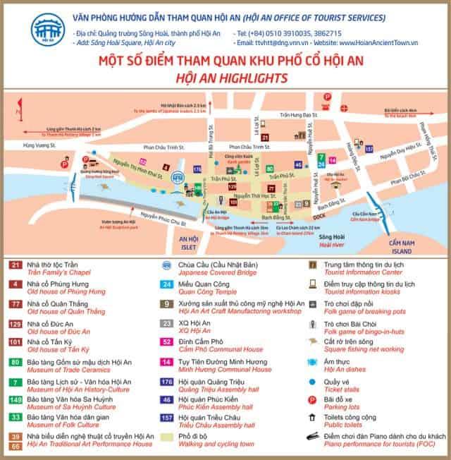 Bản đồ du lịch hội an