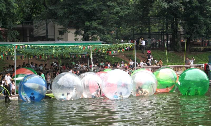 Bóng nước là một trò chơi phổ biến rất được yêu thích