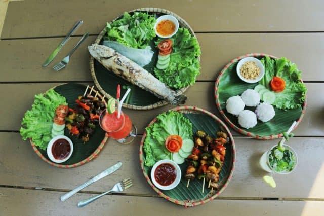 Những món ăn dân dã phục vụ du khách tại Chày Lập Farmstay
